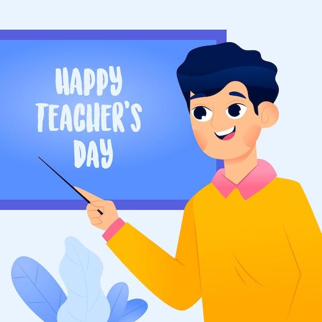 Illustration De La Journée Mondiale Des Enseignants Vecteur gratuit