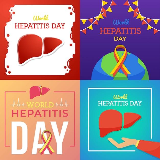 Illustration de la journée mondiale de l'hépatite Vecteur Premium