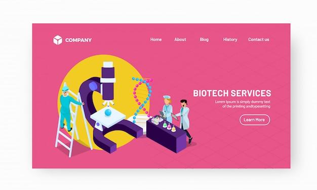 Illustration de laboratoire avec des scientifiques Vecteur Premium