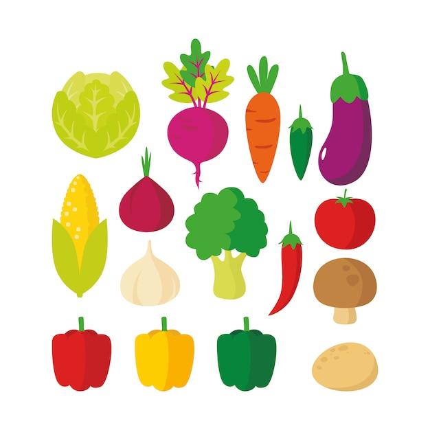 Illustration de légumes Vecteur Premium