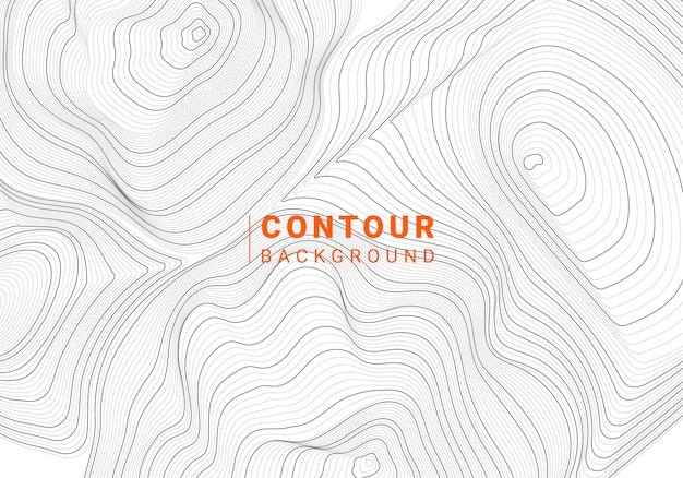 Illustration de la ligne de contour abstrait monochrome Vecteur gratuit