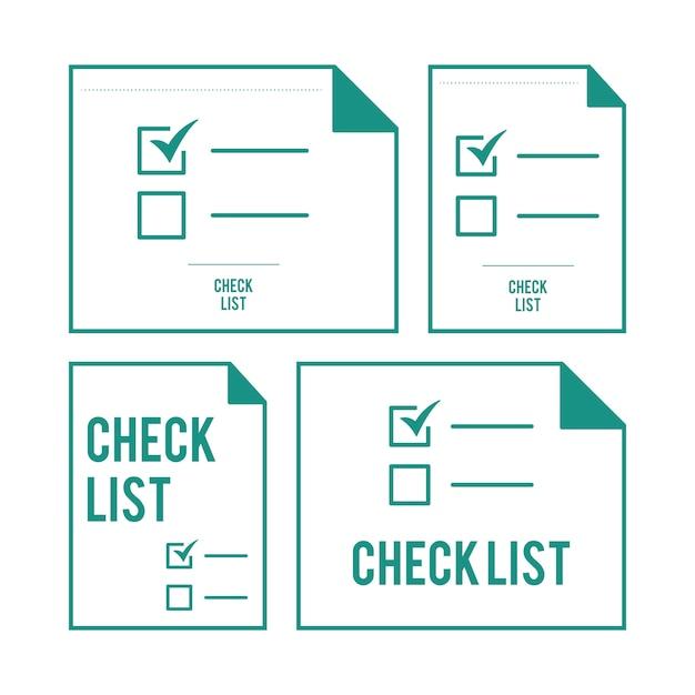 Illustration de la liste de contrôle Vecteur gratuit