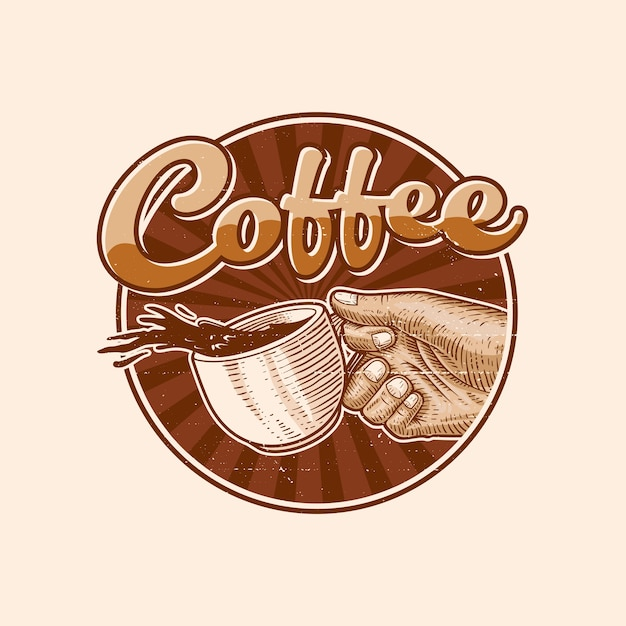 Illustration Logo Café Vecteur Premium