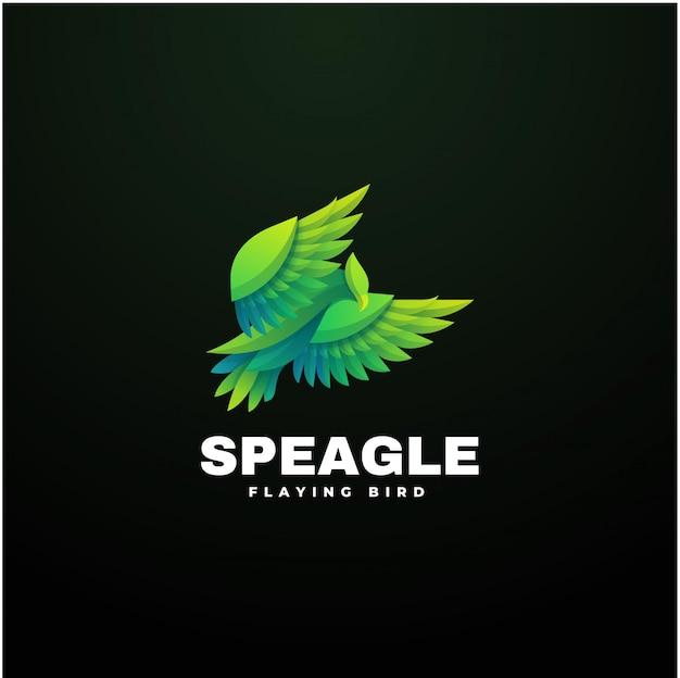 Illustration De Logo Eagle Gradient Style Coloré. Vecteur Premium