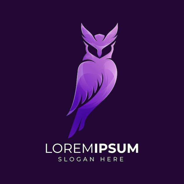 Illustration De Logo De Hibou Violet Moderne Premium Vecteur Premium