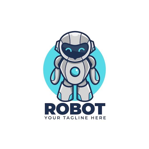 Illustration De Logo Mascotte Logo Dessin Animé Mignon Vecteur Premium