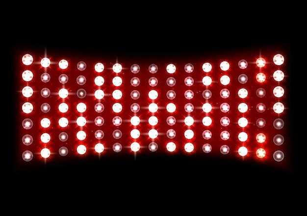 Illustration de la lumière de la scène rouge Vecteur Premium