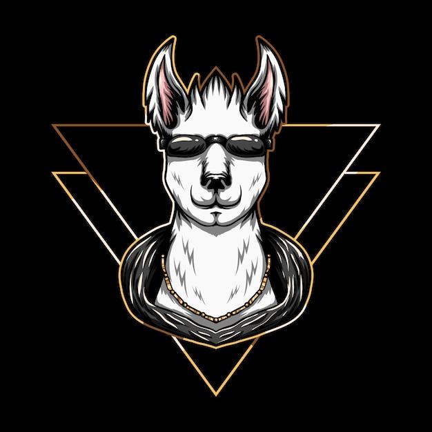 Illustration de lunettes de lama Vecteur Premium