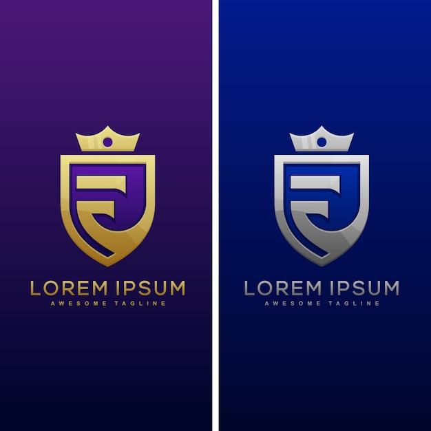 Illustration de luxe lettre f concept Vecteur Premium