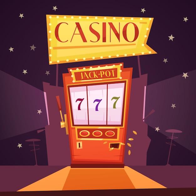 Illustration de la machine à sous jackpot Vecteur gratuit