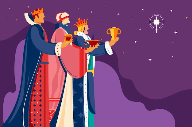 Illustration De Magos De Reyes Dessinés à La Main Vecteur gratuit