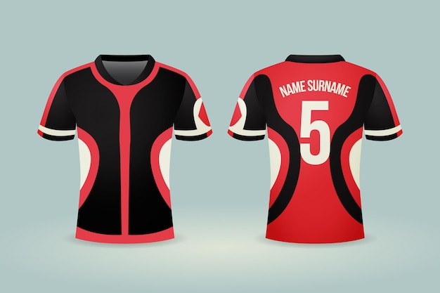 Illustration De Maillot De Football Vecteur Premium