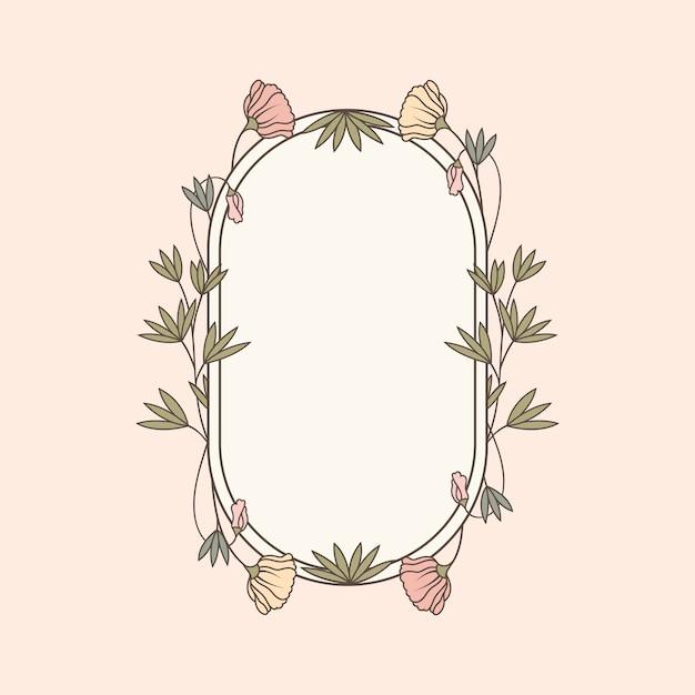 Illustration de la maquette florale botanique Vecteur gratuit