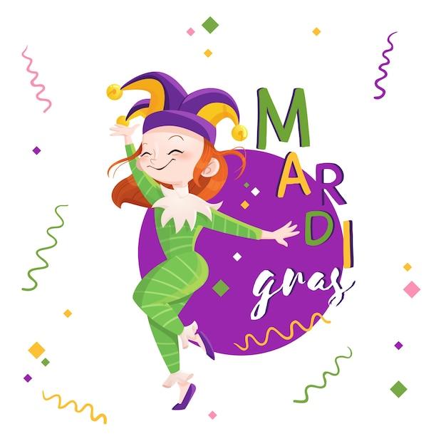 Illustration De Mardi Gras Dessiné à La Main Vecteur gratuit