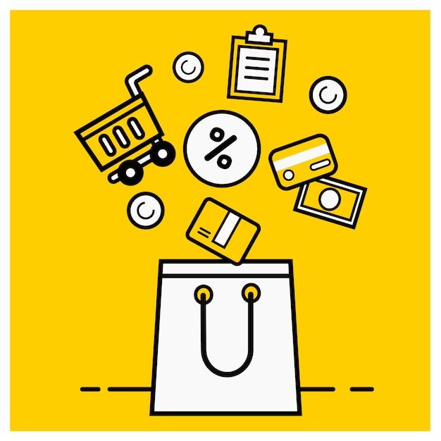 Illustration marketing numérique Vecteur Premium