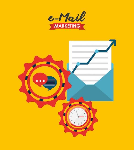 Illustration marketing par courrier électronique Vecteur gratuit