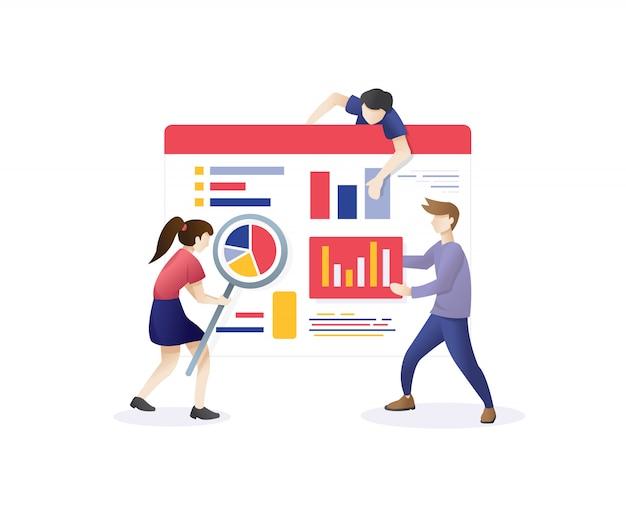 Illustration de marketing web numérique Vecteur Premium