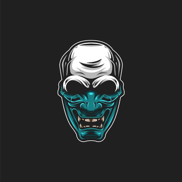 Illustration de masque de crâne Vecteur Premium