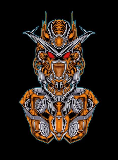 Illustration De Mecha Gundam Vecteur Premium