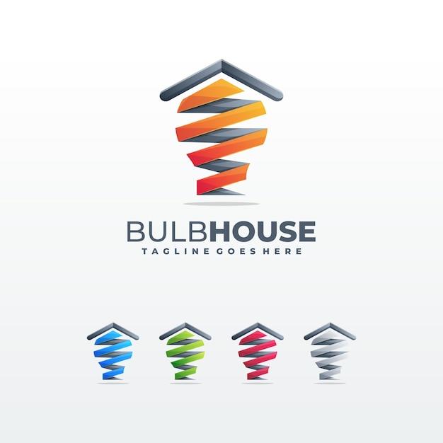 Illustration de modèle de concept de maison créative Vecteur Premium