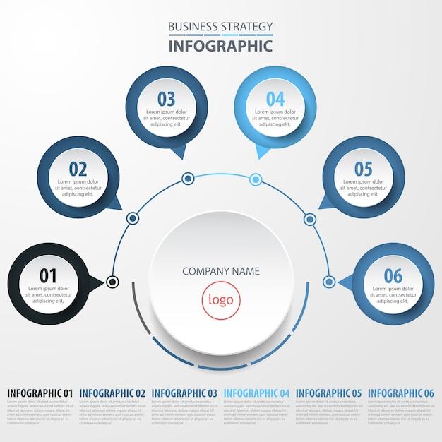 Illustration de modèle de conception d'entreprise infographie de base Vecteur Premium