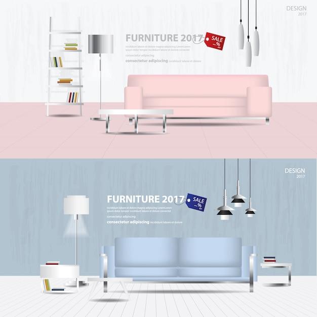 Illustration de modèle de conception de vente de 2 Vecteur Premium