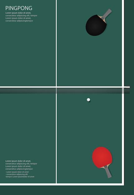 Illustration de modèles d'affiche de ping-pong Vecteur Premium