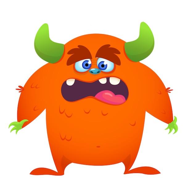 Illustration de monstre cartoon choqué Vecteur Premium