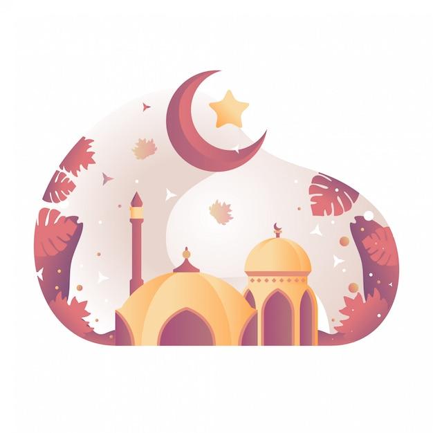 Illustration De La Mosquée Vecteur Premium
