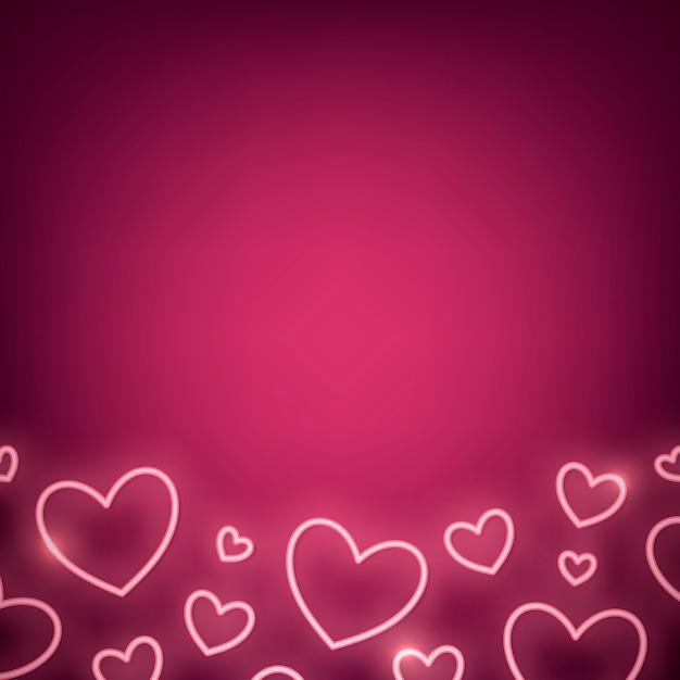 Illustration de néon saint valentin Vecteur gratuit