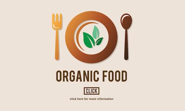 Illustration de la nourriture biologique Vecteur gratuit
