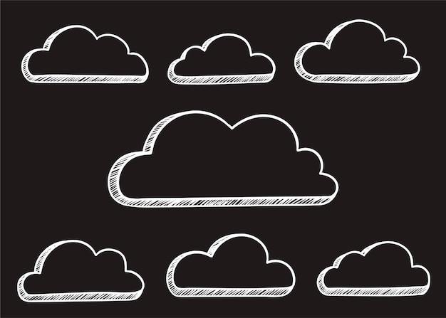 Illustration de nuage Vecteur gratuit