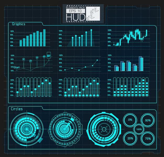 Illustration numérique infographie colorée. infographie créative de thème de tableau de bord Vecteur Premium
