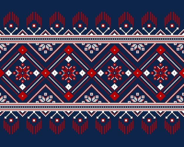 Illustration de l'ornement folklorique ukrainien modèle sans couture Vecteur gratuit