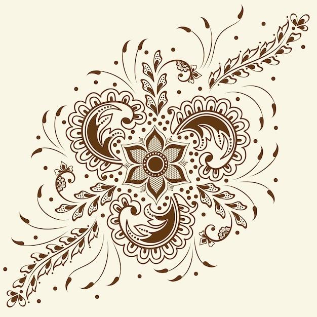 Illustration De L'ornement Mehndi Vecteur gratuit