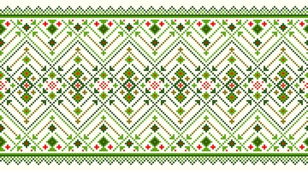 Illustration de l'ornement de modèle sans couture folklorique ukrainien. Vecteur gratuit