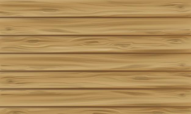 Illustration De Panneau En Bois De Fond De Texture Bois Réaliste Avec Motif Sans Soudure De Planche Vecteur gratuit