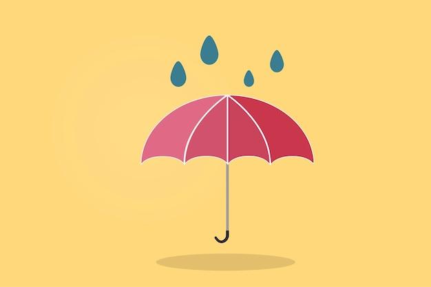 Illustration d'un parapluie Vecteur gratuit