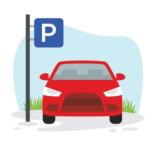 Illustration De Parking Vecteur Premium