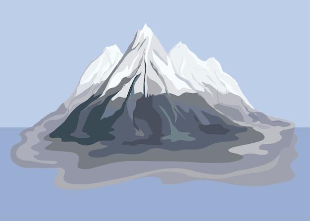 Illustration de paysage de montagne peinte Vecteur gratuit