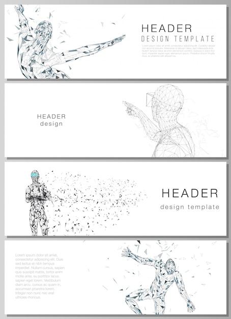 Illustration De Personne Corporelle Virtuelle Minimaliste. Vecteur Premium