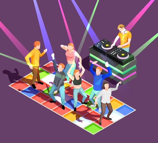 Illustration de personnes dansantes Vecteur gratuit