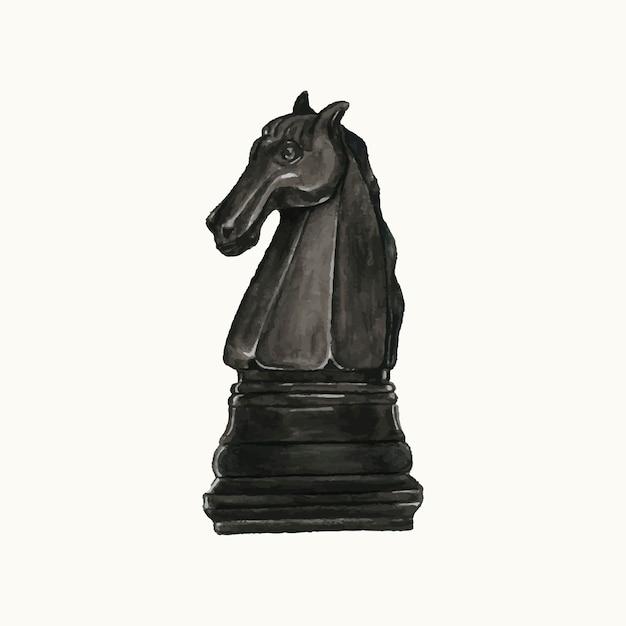 Illustration d'une pièce d'échecs Vecteur gratuit
