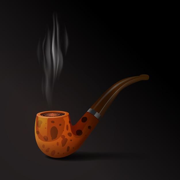 Illustration De Pipe De Tabac Vecteur gratuit