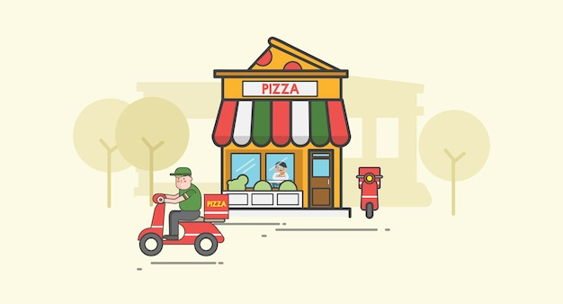 Illustration de la pizza vector set Vecteur gratuit