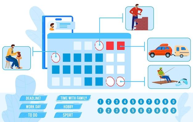 Illustration De Plan De Calendrier. Vecteur Premium