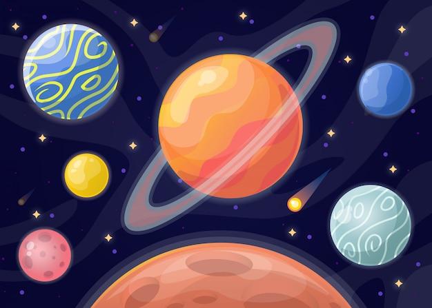 Illustration De La Planète Vecteur Premium