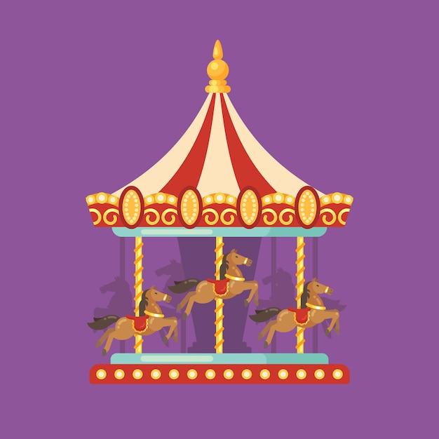 Illustration de plat carnaval juste Vecteur Premium