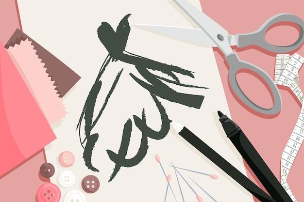 Illustration Plate De Créateur De Mode Vecteur gratuit