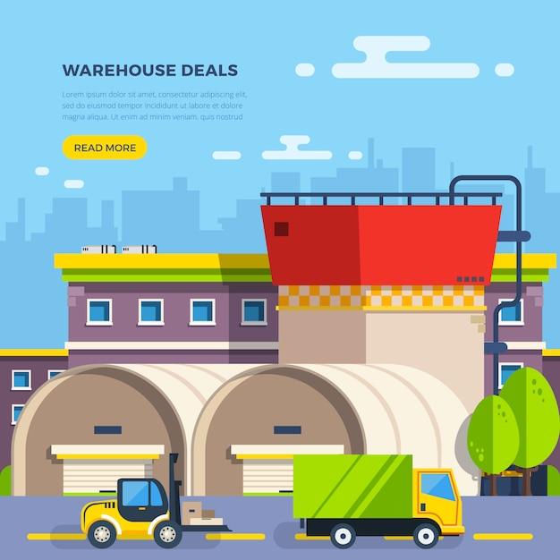 Illustration plate entrepôt Vecteur gratuit